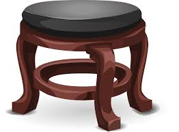 free vector graphic stool foot stool leather black free