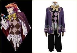 Black Butler Halloween Costumes Black Butler Book Circus Joker Cosplay Costume Clothing