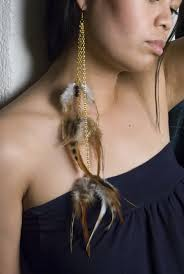 one feather earring and easy diy feather earrings see cate create