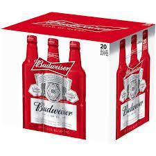 busch light aluminum bottles budweiser beer 20 pk 16 fl oz aluminum bottles walmart com