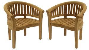 fauteuil demi lune fauteuil en teck kuta jardideal fr