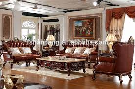 Premium Quality Brown Traditional European Wooden Sofa Set Designs - Wooden sofa set design