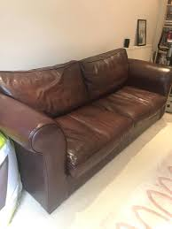 Pre Owned Chesterfield Sofa by Reduced Stunning Laura Ashley Brown Leather Sofa In Ascot