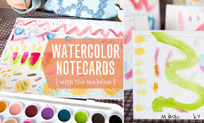 watercolor notecards watercolor notecards with the makerie moomah the magazine