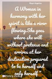 meaning of a in harmony with spirit is like a river