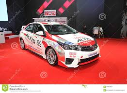 toyota altis bangkok june 24 toyota altis with modify set with trd car on