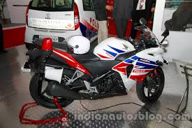 cbr upcoming model honda cbr 250r police model displayed at security expo