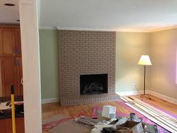 color clash painted brick fireplace is a no go