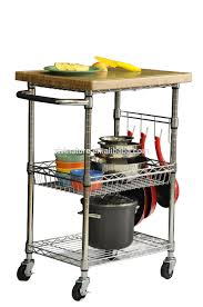 tier metal storage cart on wheels 26 5