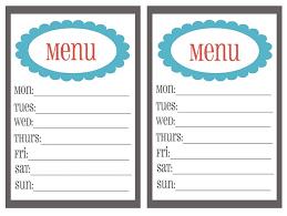 weekly menu templates free 20 free menu planner printables fab n free