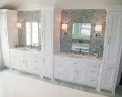 bathroom vanity with linen tower double vanity linen towers ideas pictures remodel and decor