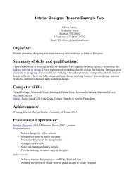 Resume Canada Example by Sample Resume Interior Decorator Resume Design Templates Interior