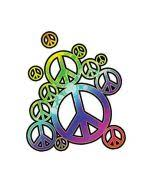 hippie peace sign temporary tattoo embodies the 60s and 70s
