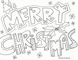 christmas coloring pages doodle art alley