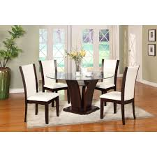 Leather Dining Room Chairs Design Ideas Magnificent Dining Room Decoration Idea Using Wooden White Leather