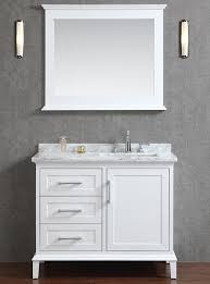42 inch bathroom cabinet ace 42 inch single sink white bathroom vanity set with mirror