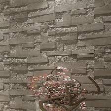 wholesale modern stacked brick 3d stone wallpaper roll brick