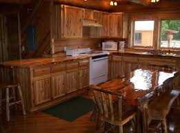 Log Cabin Kitchen Cabinets Hand Crafted Custom Rustic Cedar Kitchen Cabinets By King Of The