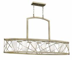 fredrick ramond fr41616slf nest silver leaf kitchen island light