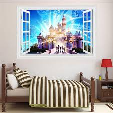 castle bedroom furniture promotion shop for promotional castle creative 3d colorful castle wall stickers for kids adhesive baby bedroom wall pictures