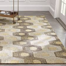 Beige And Gray Rug Contemporary Area Rugs For A Cozy Living Room Crate And Barrel