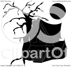 halloween house clipart royalty free rf clipart illustration of a dark black haunted