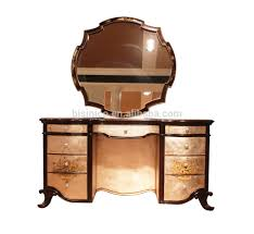 vintage lacquer wooden dressing table antique retro bedroom