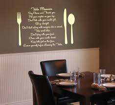 cool dining room wall decals 96 to your home decor arrangement