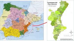 Asturias Spain Map by International Study Of Re Regions Region Of Valencia Spain