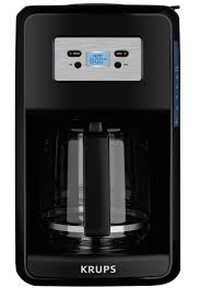 Under Cabinet Coffee Maker Rv Krups 12 Cup Programmable Digital Coffee Maker Black Savoy