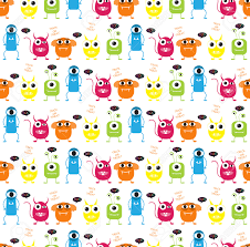 Monster Halloween by Devil And Monster Halloween Patterns Endless Texture Can Be
