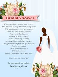 Bridal Shower Greeting Wording Bridal Shower Invitation Wordings Wordings And Messages