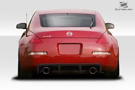 red nissan 350z 03 08 fits nissan 350z vortex duraflex rear bumper diffuser body
