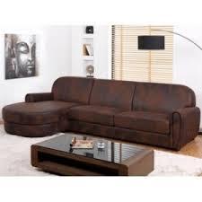 vente unique canapé vente unique canapé d angle en microfibre aspect cuir vieilli