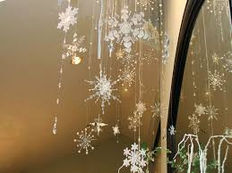 hanging ceiling decorations sophisticated decorations as as snowflakes hanging from also