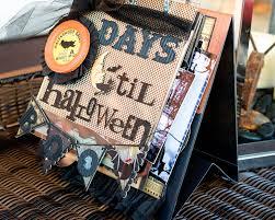 Printable Halloween Countdown Calendar Halloween Mini Scrapbook Album U0026 Halloween Countdown Calendar