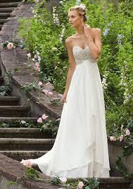 Chiffon Wedding Dresses Crystal Beaded Mori Lee Madeline Gardner Bridal Embroidery On