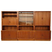 Bookcase Storage Units Set Of Three Midcentury Danish Teak Wall Unit Bookcase Shelving
