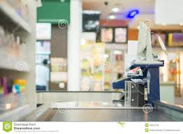 Supermarket Cash Desk Cash Desk With Terminal In Supermarket Icon Cartoon Vector