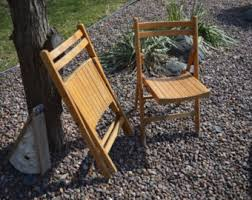 Stakmore Folding Chairs Vintage Wood Folding Chair Etsy