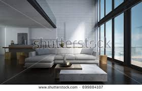 kitchen interior photo lounge space living room kitchen stock illustration 699884107