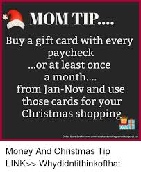 buy a gift card tip buy a gift card with every paycheck or at least once a month