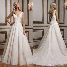 discount wholesale weddings dresses 2016 v neck empire lace
