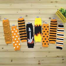 halloween socks halloween styles baby leg warmer zebra striped dots bat children