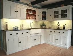 White And Blue Kitchen Cabinets Small Kitchens Ideas Recessed Wood Doors Minimalist Stained Wood