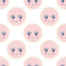 cute baby shower vector background with cookies stock vector art
