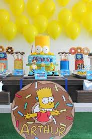 simpsons birthday banner printable ideas decorations