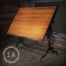 Dietzgen Drafting Table Vintage Industrial Dietzgen Cast Iron Base Drafting Table
