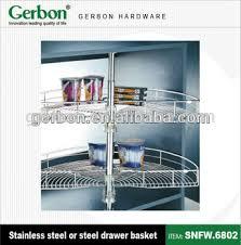 Kitchen Cabinets Baskets Kitchen Cabinet Semicircle Revolving Basket Buy Kitchen Cabinet