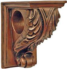 Curtain Rod Sconce Corbel Drapery Curtain Rod Holder Set Of Two Decorative Resin
